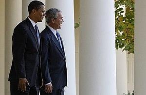 English: President George W. Bush and Presiden...