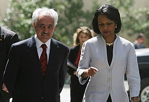 Secretary Rice meets with newly appointed Afgh...