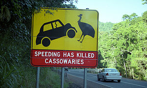 A road sign in Cairns, Queensland, Australia. ...