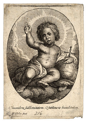 Wenceslas Hollar - The infant Jesus seated on ...
