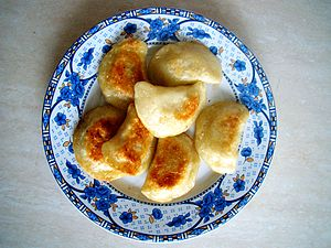 English: Christmas fried dumplings with dried ...