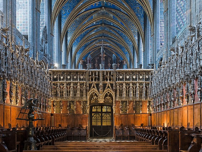 Choir and rood screen (Albi cathedral, France)...