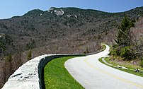 The Blue Ridge Parkway snakes around Grandfath...