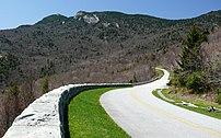 The Blue Ridge Parkway snakes around Grandfath...