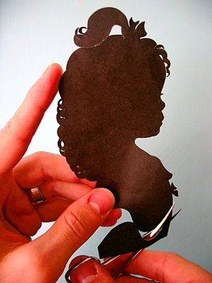 The traditional method of making a silhouette ...