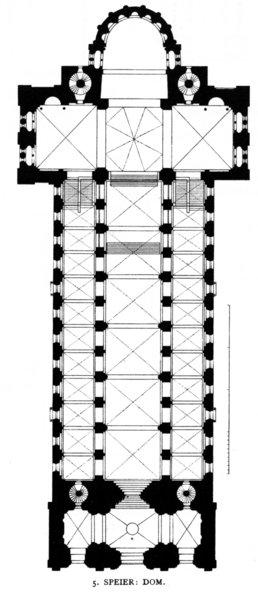 plan katedry w Spirze