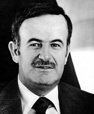 Hafez al-Assad. Taken sometime before April 1987. | Sexy and he knows it.