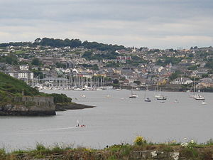Town of Kinsale in the Ireland. Harbour.