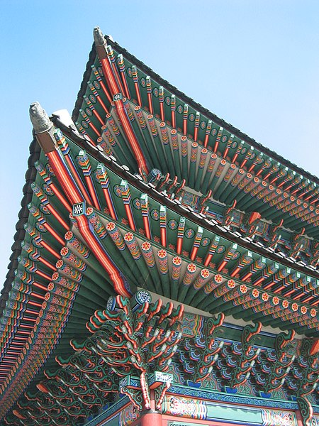 File:Korean architecture roof detail 2.jpg