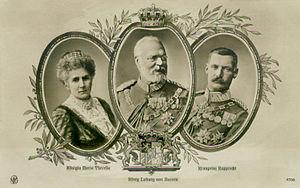 Family of Ludwig III of Bavaria. King Ludwig I...