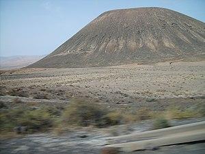 English: Montaña Quemada, in Fuerteventura, Sp...