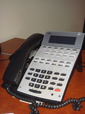 English: An NEC office phone