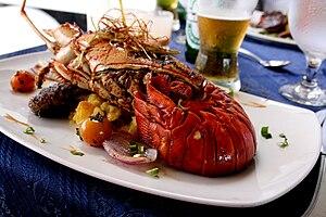 panama.langostasobrepapitacriolla Lobster Creole