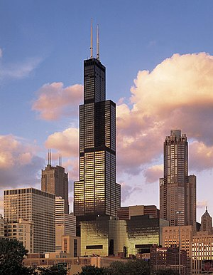The Sears Tower in Chicago is the tallest buil...