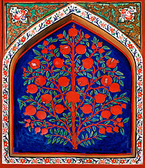 17th-century depiction of the Tree of Life in the Palace of Shaki Khans, Azerbaijan