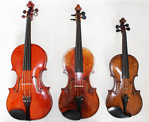 English: Comparison of Viola Profonda, Viola a...
