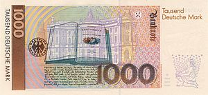 German banknote of the fourth series (since 19...