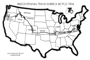 Bikecentennial Trans-America Bicycle Trail, Lo...
