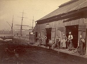 Blacksmith Shop Behind Custom House, Saint Joh...