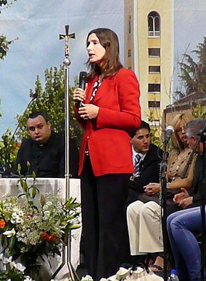 Italiano: Claudia Koll al Paladesio mentre tes...