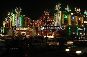 English: Lights for Diwali festival in Jaipur ...