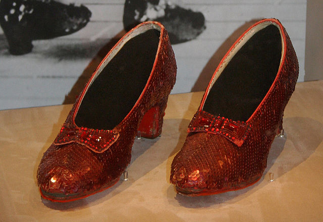Dorothy's ruby slippers from the 1938 version of