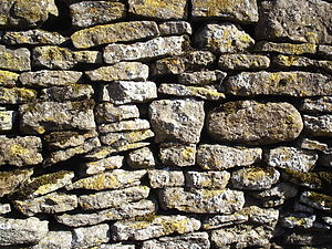 Dry Stone Wall - Blackmile Lane, Grendon, Nort...