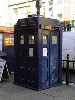 Police box located outside Earl's Court tube s...