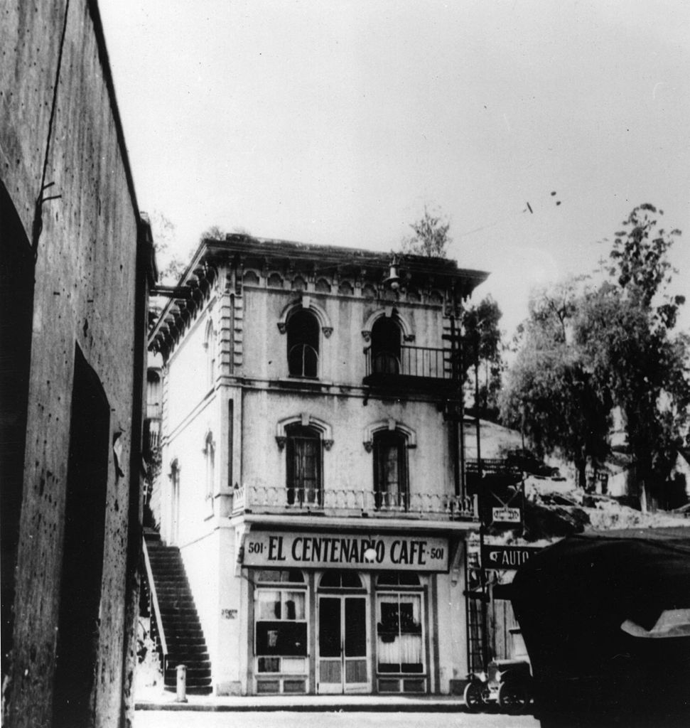 File El Centenario Cafe Los Angeles Early 1900s Exbt
