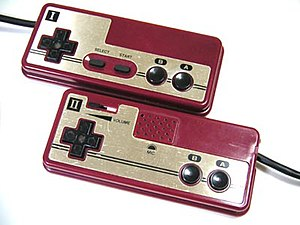 Famicom controllers.