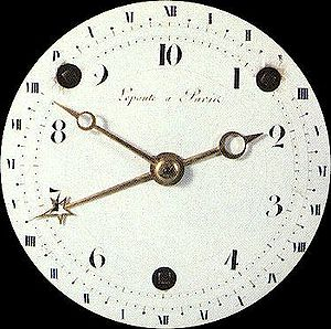 Clock dial of the French Revolution, Photograp...