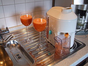 frischgepreßter Karottensaft