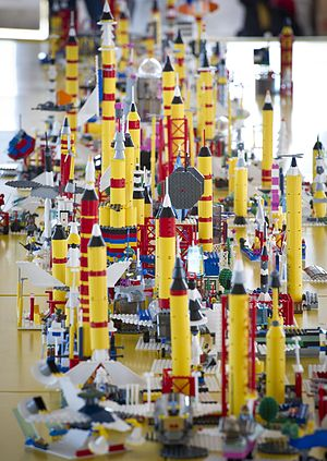 English: Students used LEGOs to 'Build the Fut...