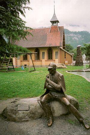 Tribute to Sherlock Holmes in Meiringen, villa...