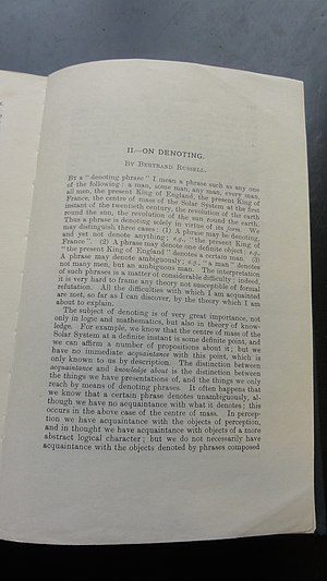 English: The first page of Bertrand Russell's ...