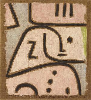 WI (In Memoriam). Signed 'Klee' (upper left); ...