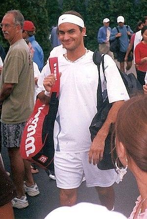 Roger Federer At The 2002 U.S. Open