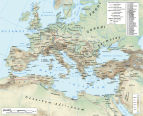 The Roman empire in the time of Hadrian (ruled...