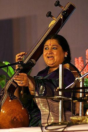 English: Shubha Mudgal is a well-known Indian ...