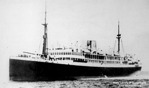 English: Accra (ship) Built 1926. 9337 tons. 1...