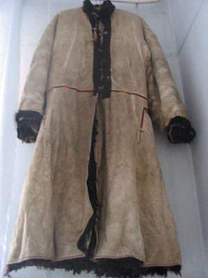 Ukrainian folk leather coat, Buchach muesum, B...