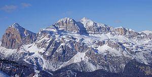 The Tofane massif in the Dolomites, in Cortina...