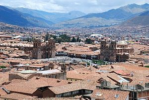 English: Central Square, Cusco, Peru Español: ...