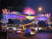 In Singapore, Diwali is marked by 2 kilometres of lights across the Little India area.