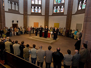 Communion service in the Three-kings Church, F...