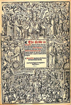 Title page from the Great Bible published by G...
