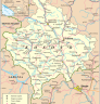 Karte des Kosovo