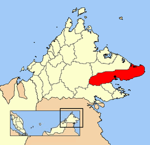 Location of Lahad Datu