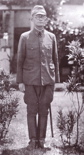Lieutenant General Harukichi Hyakutake in front of HQ Rabaul.jpg