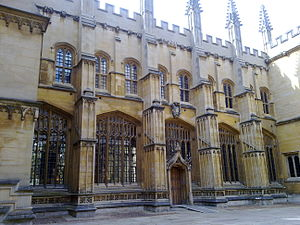 English: The north side of Oxford Divinity Sch...